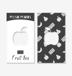 Fruit business cards vector