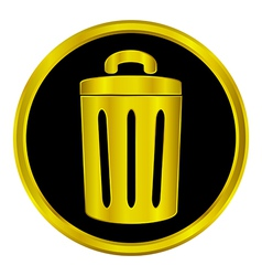 Garbage button vector image vector image