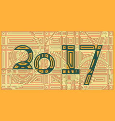happy new year 2017 background cyber abstract vector image vector image