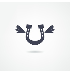 horseshoe icon vector image