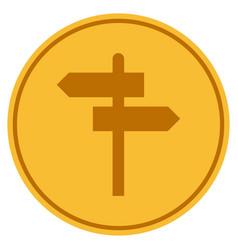 Map pointer gold coin vector