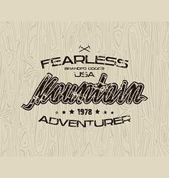Mountain emblem for t shirt vector