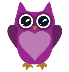 Owl lilac vector