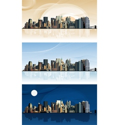 Panorama of the big city vector image vector image