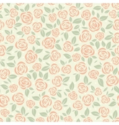 Seamless pattern with stylized roses vector image vector image