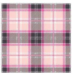 Seamless Pink Tartan Plaid Design vector image