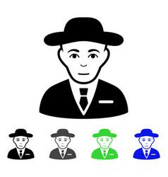 Secret service agent flat icon vector