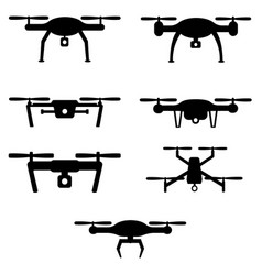 set of drones vector image vector image