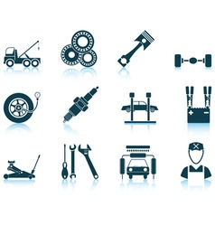 Set of Service station icons vector image vector image