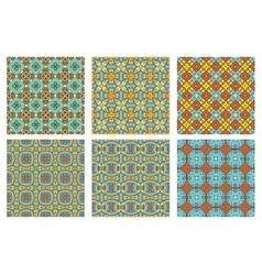 set of six summer patterns vector image