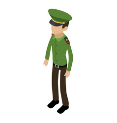 Soldier american icon isometric 3d style vector