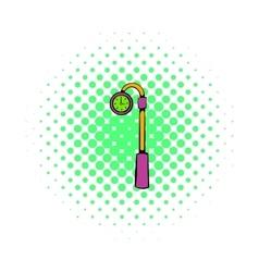 Street clock icon comics style vector