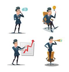 Successful businessman cartoons vector