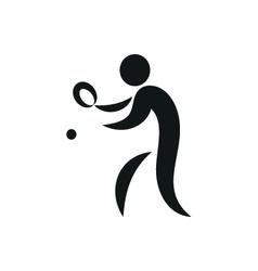 Table tennis summer olympic discipline ison vector