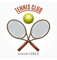 Tennis team club label vector image