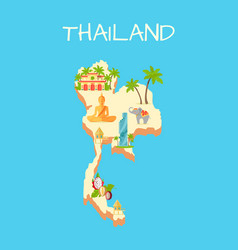 Thailand island isolated on azure background vector