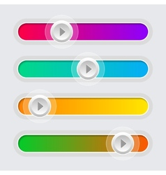 UI Color Volume Control Sliders Set vector image