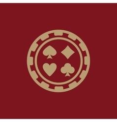 The casino chip icon casino chip symbol flat vector