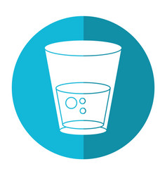 glass water fresh icon shadow vector image