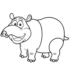 Tapir outline vector