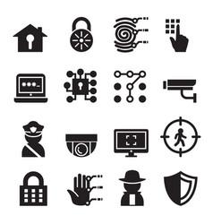 Security icon set vector