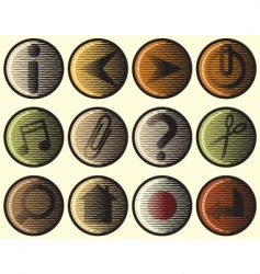 woodcut icons vector image