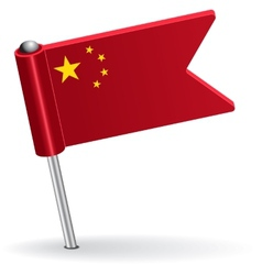Chinese pin icon flag vector