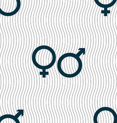 Male and female icon sign seamless pattern with vector