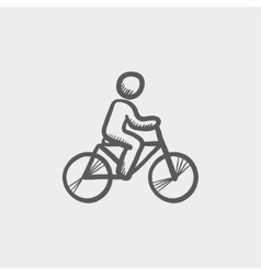 Racing bike sketch icon vector