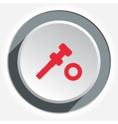 Screw bolt with nut icon tool working fix vector