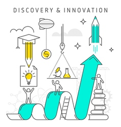 discovery innovation vector image