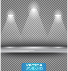 Spotlights scene with different source of lights vector