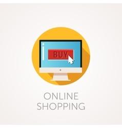 Flat design concept of online vector