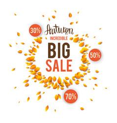 Autumn incredible sale vector