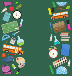 Back to school borders vector