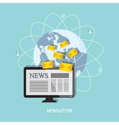 Banner of newsletter vector