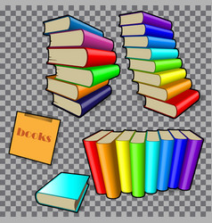 Books in colored bindings vector