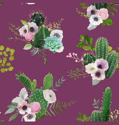cactus tropical summer botanical background vector image