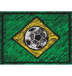 Chalked brasilian composition vector