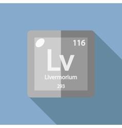 Chemical element livermorium flat vector
