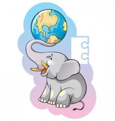 children alphabet letter e vector image vector image