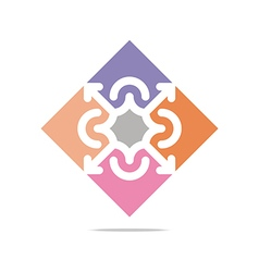 Colorful arch element design abstract icon vector
