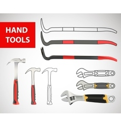 Construction tool collection vector