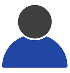 Customer profile flat icon vector