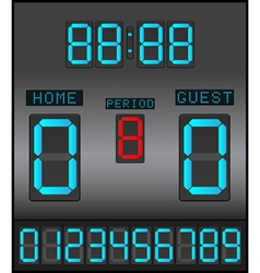 Digital scoreboard background vector