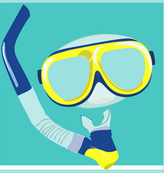 dive mask and snorkel for professionals vector image vector image