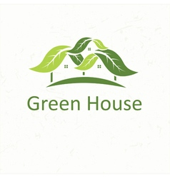Ecological house icon vector image