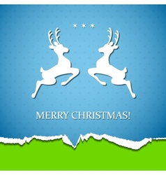 Holiday background with deer vector image vector image