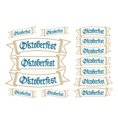 Oktoberfest banners in bavarian colors set bavaria vector
