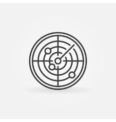 Radar icon or logo vector image
